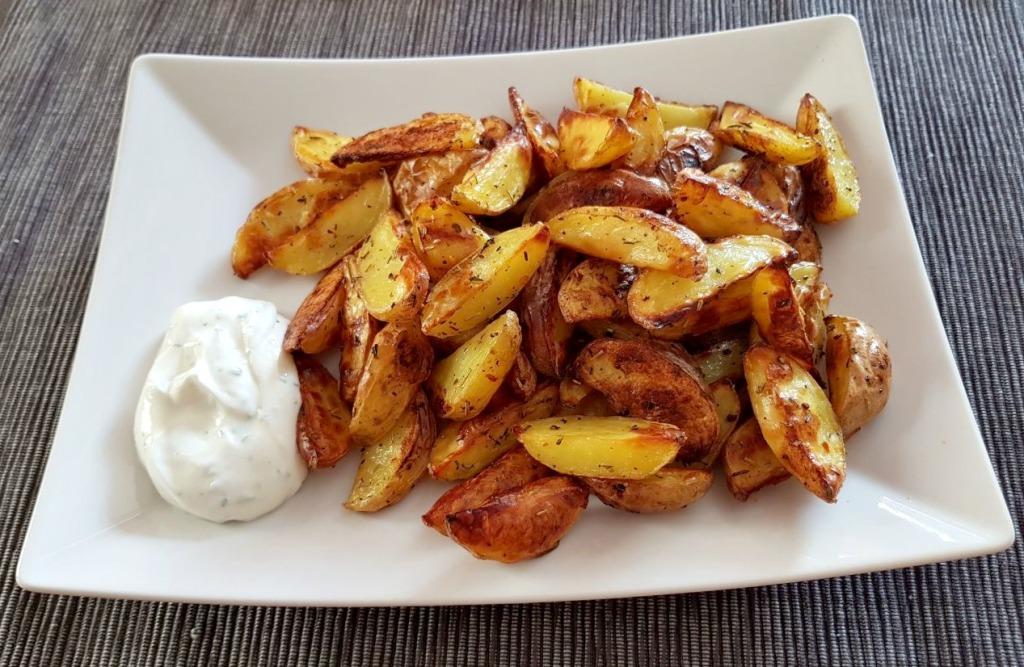 Kartoffel Wedges bearbeitet