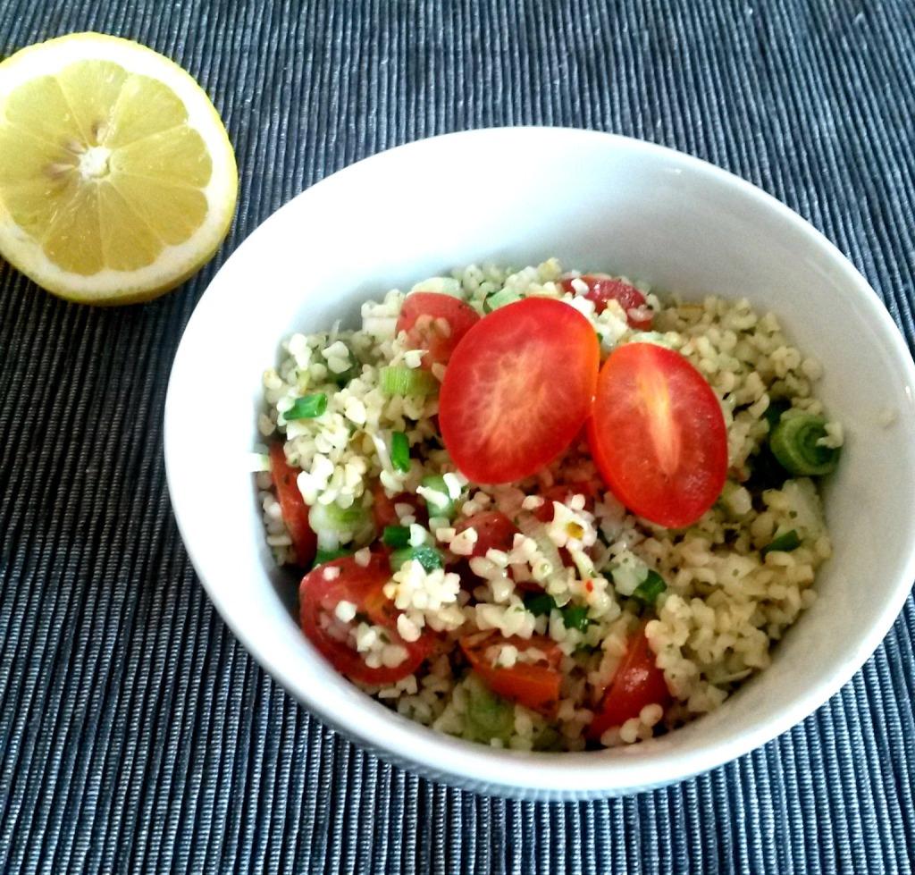 Bulgur Salat bearbeitet