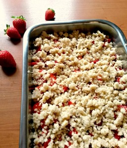 Strawberry-Crumble bearbeitet