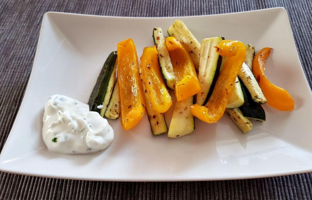 Mariniertes Gemüse bearbeitet