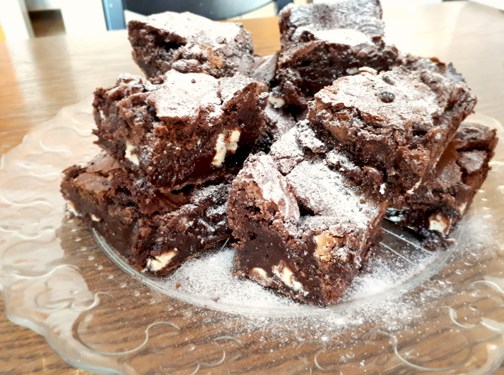 Triple-Choc-Brownies