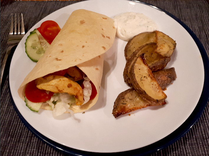 Leichte Curry-Puten Wraps