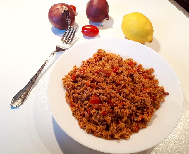 Tomaten Couscous Pfanne