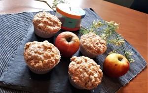 Apfelmuffins mit Hafer-Zimt-Streuseln