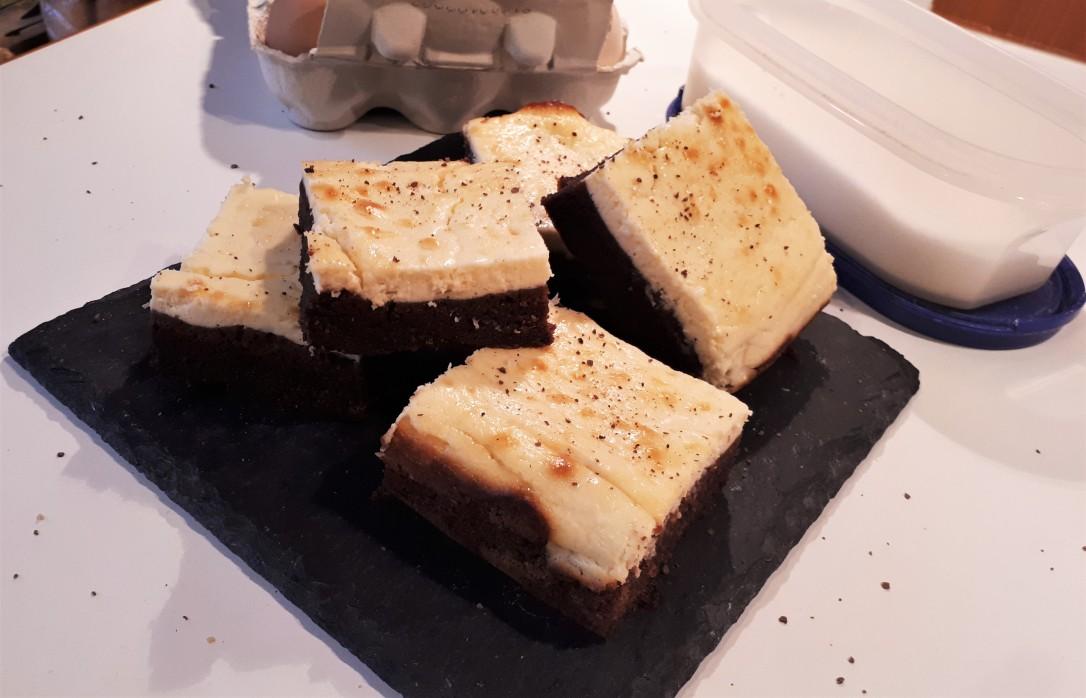 Brownie-Cheesecake Schnitten