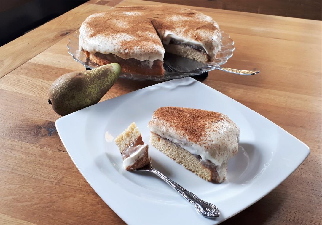 Birne-Schmand Kuchen