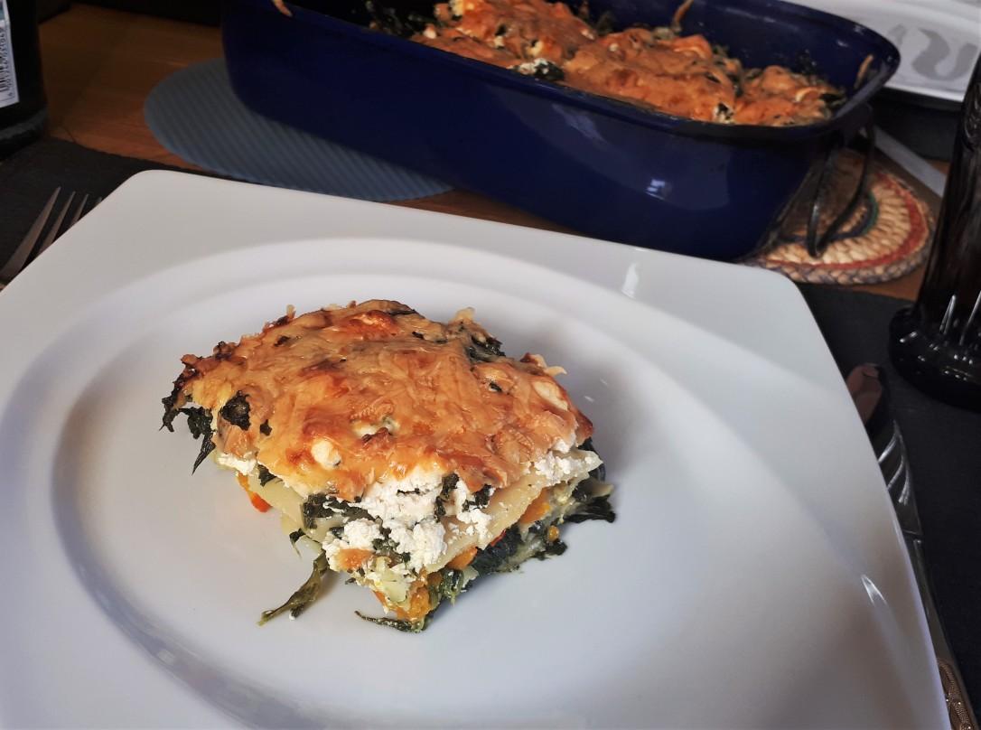Kürbis-Ricotta-Lasagne