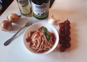 Bruschetta Style Spaghetti Salat