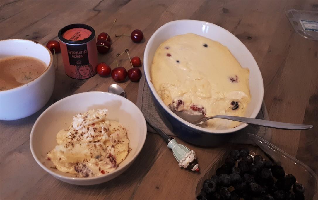 Frühstücks Quarkauflauf